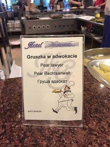 tłumaczenie gruszki w menu